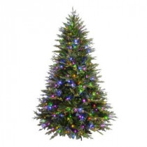 7.5 ft. Evergreen Quick-Set Artificial Christmas Tree with 550 Color Choice LED Lights