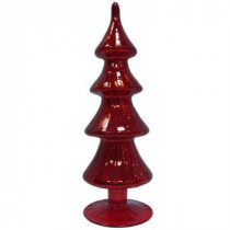 11.5 in. Red Glass Tree Decor