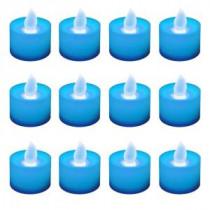Blue Flickering LED Tealights (Box of 12)