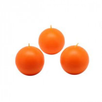 2 in. Orange Ball Candles (Box of 12)