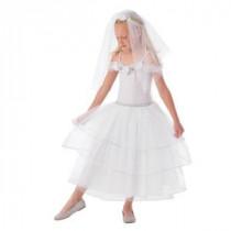 White Rose Bride Child&#39,s Small Costume