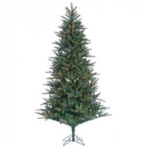 7.5 ft. Pre-Lit Natural Cut Franklin Spruce Artificial Christmas Tree with Multi Lights