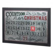 22 in. L Metal Christmas Countdown Calendar