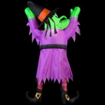 42.13 in. W x 11.81 in. D x 59.84 in. H Inflatable Witch Hanging From Roof