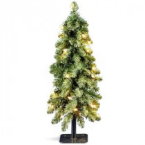 Downswept 24 in. Artificial Forestree with 50 Clear Lights