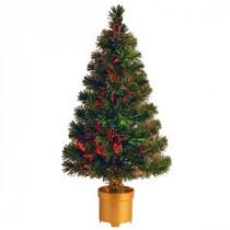 2.67 ft. Fiber Optic Fireworks Evergreen Artificial Christmas Tree