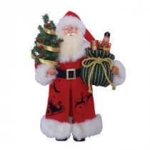15 in. Up and Away Santa with Tree