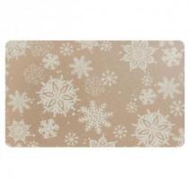 Snowflake 18 in. x 30 in. Foam Mat