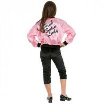 Children&#39,s Pink Ladies Satin Jacket Costume