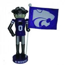 12 in. Kansas State Mascot Nutcracker with Flag
