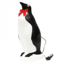 22 in. Penguin with Bow and Light