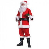 Plus Size Flannel Santa Suit for Adults