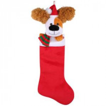 22 in. Animated Stocking Ear Flapping Dog