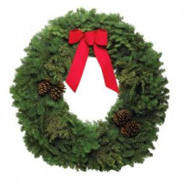 22 in. Mixed Wreath with Bow (In-Store Only)
