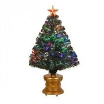 4 ft. Multi-Color Fiber Optic Radiance Fireworks Artificial Christmas Tree