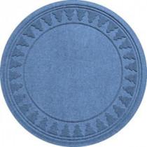 Aqua Shield Medium Blue 35 in. Round Pine Trees Under the Tree Mat