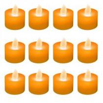 Orange Flickering LED Tealights (Box of 12)