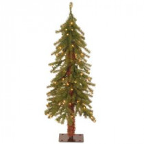 3 ft. Hickory Cedar Artificial Christmas Tree with 50 Clear Lights